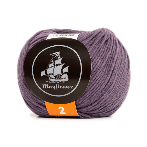 Mayflower Cotton 2 Mørk Lavendel