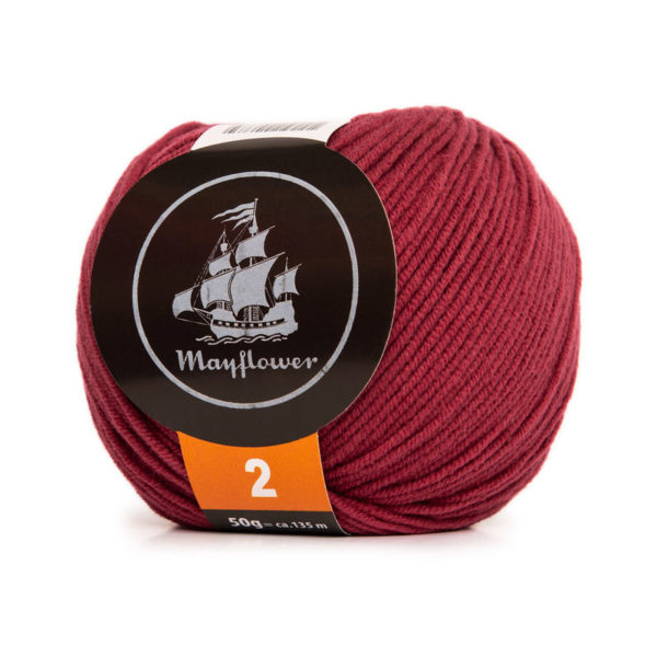Mayflower Cotton 2 Mørk Rubinrød