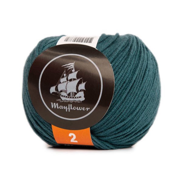 Mayflower Cotton 2 Påfugle Blå