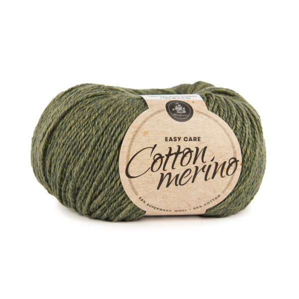 Mayflower Cotton Merino Solid Mørk Oliven